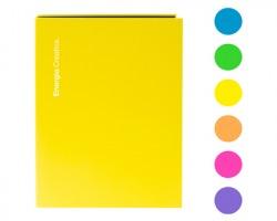 Scatto 557 Raccoglitore a 4 anelli in cartone lucido, formato A4, colori assortiti