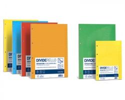 Favini A56Y304 Dividerello rubricabile - Divisori fustellati rubricabili 22x29.7cm, 20ff in 10 colori assortiti
