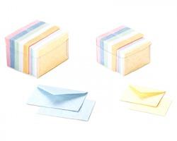 Favini A57Y221 Nuvola - blister 100 buste + 100 cartoncini 7.2x11cm - colori tenui