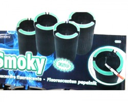 Posacenere Smoky, bordo fluorescente al buio