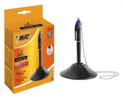 Bic 918515 4 Colours Counter Pen - Penna a sfera blu 4 refill per scrivania, tratto 0.32mm - 1pz