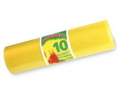 Sacchi gialli in PE/ LD per raccolta differenziata, super resistente, misura 80x120cm, conf. da 10pz