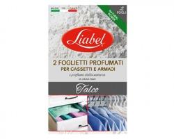 Liabel Foglietti Profumati per cassetti e armadi, profumazione talco, conf. da 2 fogli