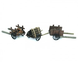 Carretto in legno per presepe 15cm, modelli assortiti