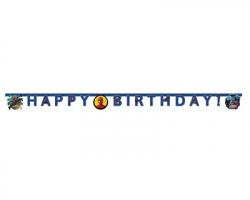 """Spiderman Banner """"Happy Birthday"""" 200 cm - 1pz"""