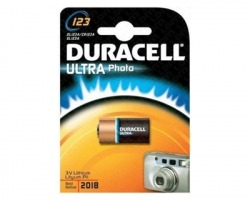 Duracell CR123A/DL123 batteria al litio 3V per fotocamera blister da 1pz (75058646)