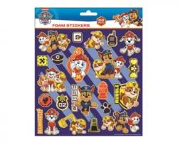 Paw Patrol bambino Sticker adesivi spugnosi, in blister da 22pz, misura 20x24cm