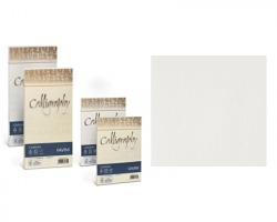 Favini A570417 Calligraphy Canvas 12cm x 18cm 25 buste - bianco 01