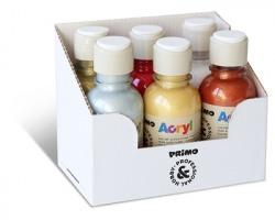 Primo 402TA125ASS2 Display 6 bottiglie colore acrilico fine con tappo dosatore 125ml