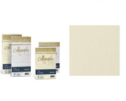 Favini A57Q617 Calligraphy Lino 12cm x 18cm 25 buste - avorio 02