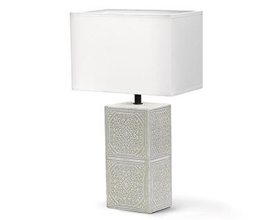 Aigostar 13pui Lampada Da Tavolo Base In Ceramica Di Colore Beige Attacco Lampadina E14 Paralume Bianco Ofba Srl
