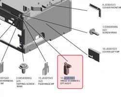 Ricoh J0301601 Left scanner hinge originale**