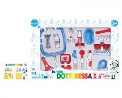 Gioco Kit dottoressa composto da 12pz - Misure: 43x31x5cm, da 3+, colori assortiti