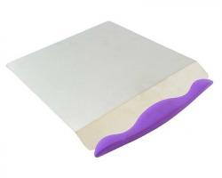 Spatola AG406D in acciaio con manico in plastica, per taglio torte e crostate, misura 20.5x23.5cm