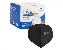 Mascherina facciale 5 veli KN95/ FFP2 conf. da 20pz, colore nero (marchio CE)