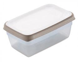"""Stefanplast Contenitore ermetico per frigo """"Ciao Fresco"""" cap. 0.6lt, colore bianco/ tortora chiaro, 100% Made in Italy"""