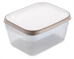 """Stefanplast Contenitore ermetico per frigo """"Ciao Fresco"""" cap. 1.8lt, colore bianco/ tortora chiaro, 100% Made in Italy"""
