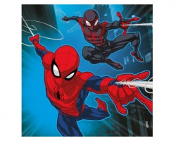 Spiderman Asciugamano magico in cotone al 100%, misura 30x30cm una volta aperto