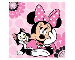 Disney Minnie Asciugamano magico in cotone al 100%, misura 30x30cm una volta aperto