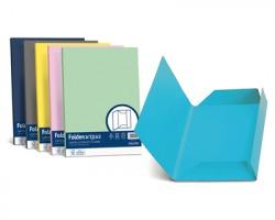Favini A50G434 Folder 3 lembi cartellina Luce-Acqua 200gr 25pz - azzurro 55