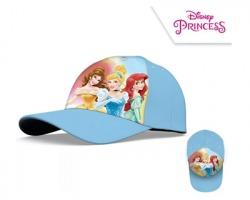 Disney Princesse Berretto da bambina con visiera taglia 52, colore azzurro