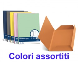 Favini A50X434 Folder 3 lembi cartellina linea Luce-Acqua 200gr 25pz - colori assortiti forti
