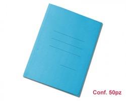 Blasetti 620 Zaffiro - Cartellina azzurra formato 25 x 33.5cm a 3 lembi con stampa rigatura esterna - conf. 50pz