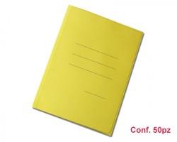 Blasetti 622 Zaffiro - Cartellina gialla formato 25 x 33.5cm a 3 lembi con stampa rigatura esterna - conf. 50pz