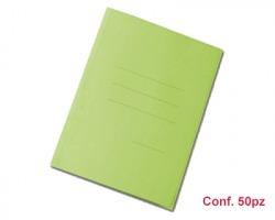 Blasetti 626 Zaffiro cartelline formato 25 x 33cm a 3 lembi verde, con stampa rigatura esterna - conf. 50pz