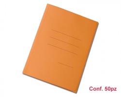Blasetti 619 Zaffiro cartelline formato 25 x 33cm a 3 lembi arancione, con stampa rigatura esterna - conf. 50pz