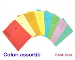 Blasetti 576 Sintex cartelline a L colori assortiti in cartoncino, con finestra e tabella all'esterno - conf. 20pz