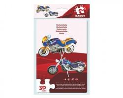 Gioco Puzzle 3D motocicletta, misura 17x12cm, 18pz