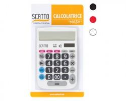 """Scatto SC-144 Calcolatrice a 12 cifre comfort """"Nash"""" a doppia alimentazione, misura 10.5x16cm, colori assortiti"""