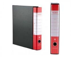 Brefiocart 0201157/RO Nero & - Registratore protocollo rosso dorso 5cm - formato utile 23x33cm - 1pz