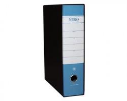 Brefiocart 0201150/AZ Nero & - Registratore protocollo azzurro dorso 8cm - formato utile 23x33cm - 1pz