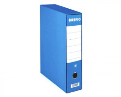 Brefiocart 0201190/BL Brefio - Registratore protocollo blu dorso 8cm - formato utile 23x33cm - 1pz