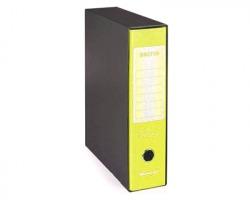 Brefiocart 0201190/GF Brefio fluo - Registratore protocollo giallo fluo dorso 8cm - formato utile 23x33cm - 1pz