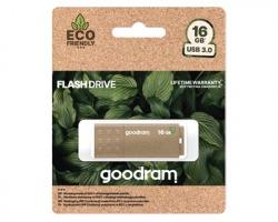 GOODRAM Pendrive 16GB UME3 Green MIX USB 3.0, retail blister, la prima pendrive Eco Friendly al 100%