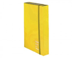 Brefiocart 0221305/GI New color - Cartella progetto giallo dorso 5cm - conf. 6pz