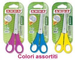 Arda FF1105 Basic forbice da 13cm con lame centimetrate e punta arrotondata, colori assortiti