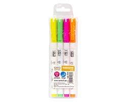 Scatto 40-4 Blister evidenziatori a penna fluo 1x4pz - colori assortiti