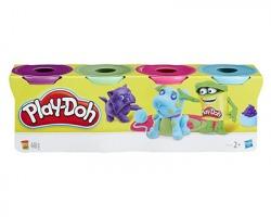 Hasbro Play-Doh - 4 Vasetti pasta da modellare