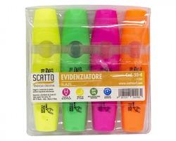Scatto 50-4 Confezione evidenziatori fluo 1x4pz