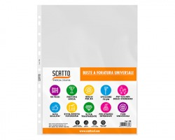 Scatto 700 Buste forate A4 70micron 1x50pz
