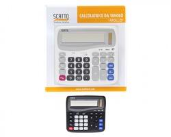 Scatto SC-146 Calcolatrice da tavolo grande batterie+cella solare, 12 cifre