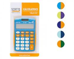 """Scatto SC-134 Calcolatrice """"Giusta"""" da tavolo in blister, colori assortiti"""