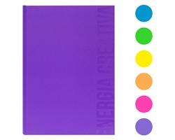 Scatto 970-1 Quaderno cartonato 120 fogli, 1 rigo - Colori assortiti