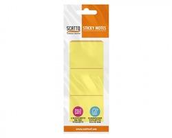 Scatto MT5038-G Sticky notes Foglietti riposizionabili 38 x 50mm, colore giallo pastello, 100 fogli - 3pz