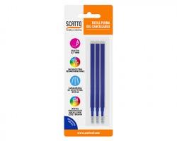 Scatto 597-19 Refill per penna gel cancellabile colore blu, in blister 1x3pz