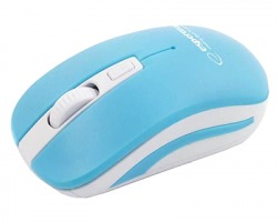 Esperanza EM126WB Mouse ottico 4D, ergonomico con 4 tasti, wireless, colore blu